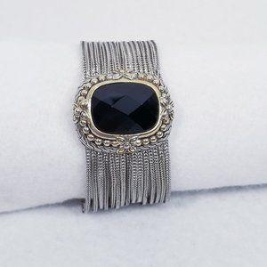 Vintage Multistrand Bracelet w/Faceted Center